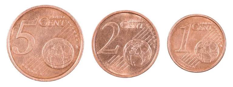 monedas de cobre
