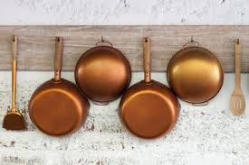 utensilios de cocina de cobre