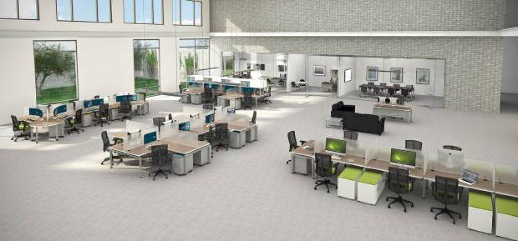 espacios de trabajo abiertos
