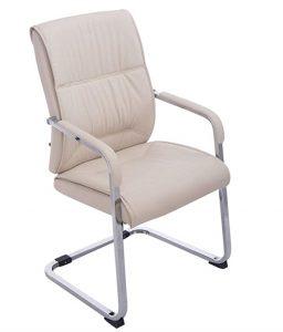 Silla sin ruedas de escritorio y oficina ergonómica