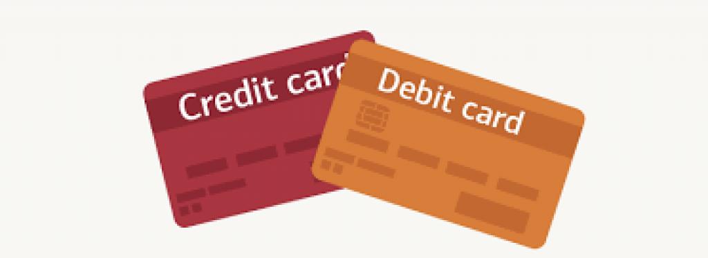 Tarjeta de crédito, tarjeta de débito