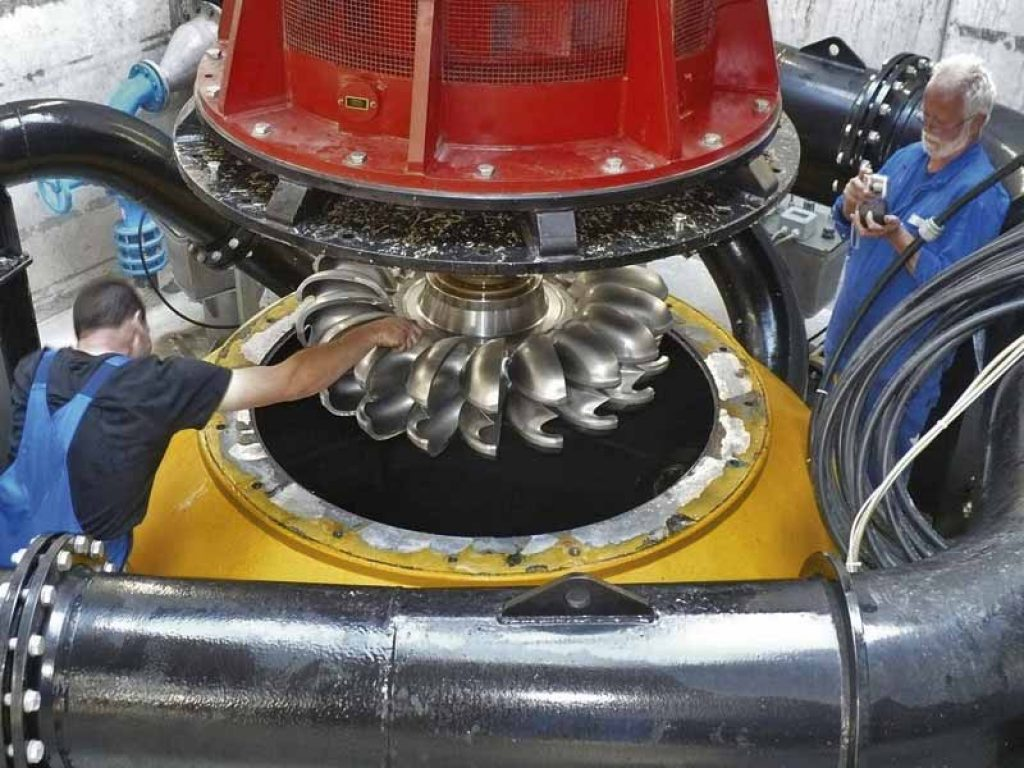 Funcionamiento de la turbina pelton